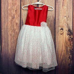 Holiday Editions Red Dress w/Tulle & Sparkles 3T